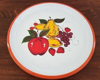 Vintage Laquer Ware Tray - Fruit Motif