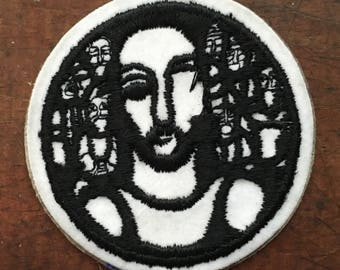 Jesus Nazareth Black and White Patch 1980's