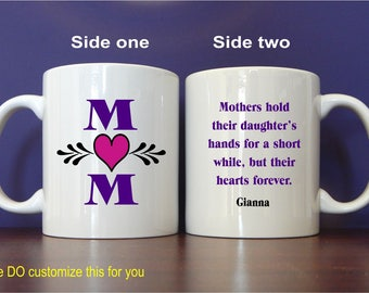 Personalized Mom Gift, Mom Mug, Mom Christmas Gift, Mom Birthday Gift, Best Mom Ever Mug, Custom Mugs, Gift for Mom from Child MMA001