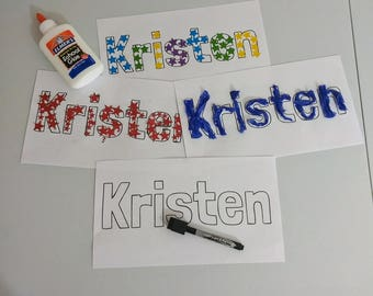 5 Learn your Name Art Projects