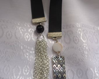 Man's Long Black Ribbon Bookmark-  Bible Bookmark- Bookmark for Scriptures-  Bookmark for Large Books- Elegant Bookmark- Gift- Classic