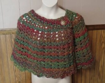 Crochet Womens Cozy Capelet Shawl Wrap Pattern DIGITAL DOWNLOAD ONLY