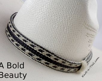 Horsehair hat band Elegant Cowboy hat horse hair hat band/ No tassels natural colors wider style  horsehair hat band Western hat band, Rodeo