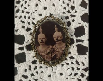 handmade jewelry, Vintage circus brooch
