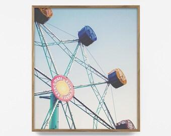 ferris wheel print, carnival photo, printable ferris wheel, ferris wheel print, carnival photo, retro ferris wheel, retro decor, retro print
