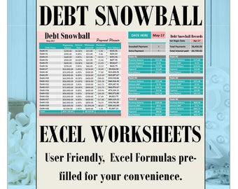 Debt payoff calculator snowball excel