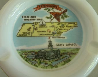 Ashtray Souvenir from Tennessee, w / Landmarks