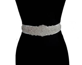 Bridal Belt, Wedding Accessory, Wedding Sash, Wedding Belt, Crystal Wedding Sash,
