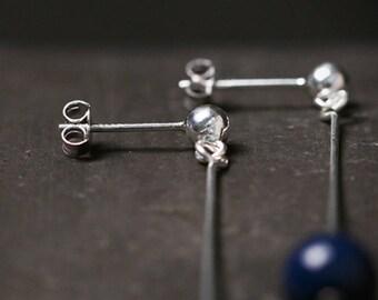 Handmade Silver earring ear stud original design earrings for women pearl earring