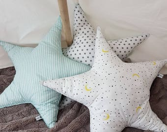 Pillow/cushion with star and all star! 52 cm in diameter