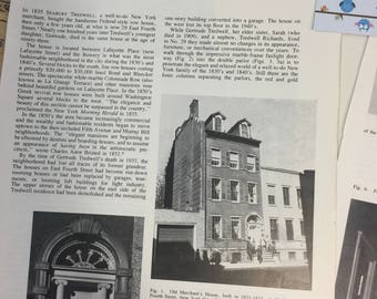 The Old Merchant's House in New York City.  Antiques MAGAZINE ARTICLE 1973