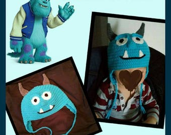 Monster hat and crochet - baby child - birth, birthday gift company