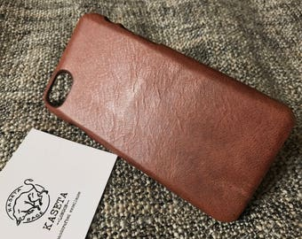 Italian VegTan Leather 'Cocoa' case, Pick your phone