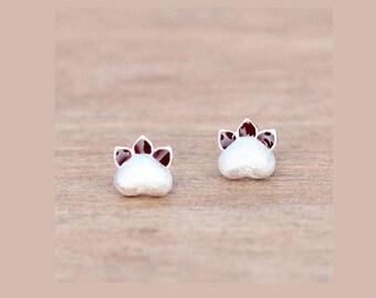 Cat Earrings Silver Earrings Animal Earrings Stud Kitty Earrings Cat Paw Earrings Stud Cat Claw Earrings Kitty Earrings Post Stud