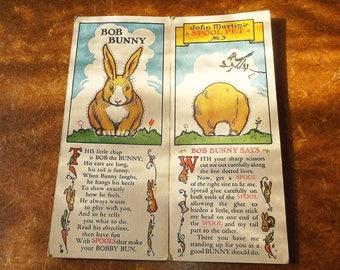 Vintage 1930 Spool Pet Bob Bunny • John Martin's No. 3 • Clark's • J. & P. Coats
