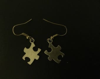 Puzzle Piece Earring