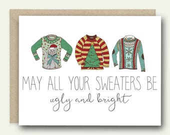 Funny Christmas Card | Ugly Sweater Card | Christmas Card | Funny Holiday Card | Christmas Sweater Card | Christmas Sweater Party