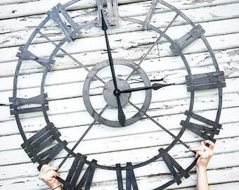 Metal Clock - 36 inch - Farmhouse Decor - Farmhouse Clock - Clock - Fireplace Mantel - Simply Inspired - Housewarming Gift - Wedding Gift