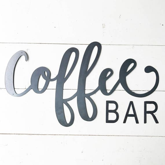 items similar to coffee bar metal sign metal wall art