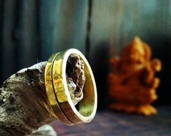 Thin Brass Ring Minimalist Modern Brass Ring Gift for Her Minimal Jewelry Magic Ring Womens ring Warm ring