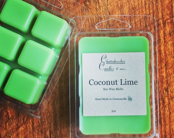 Handmade Soy Wax Melts- Coconut Lime Scented |Wax Warmer | Soy Wax Tarts | Scented Wax Melts