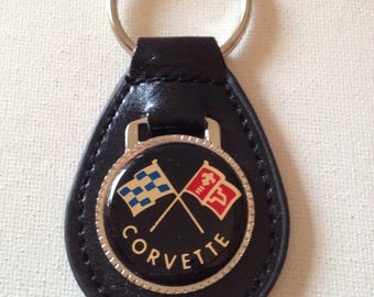 Chevrolet Corvette Keychain Genuine Leather Chevrolet Key Chain