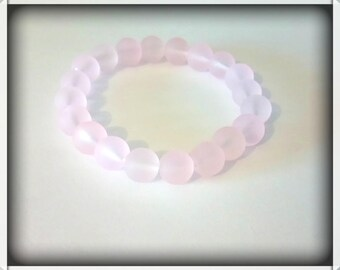 Soft pink frosted Beads Bracelet