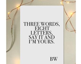 Blair Waldorf quote notebook Gossip Girl three words eight