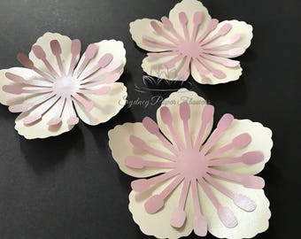 6 cherry blossom paper flowers AS ADD ON only when you buy a set of flowers / we will not ship this item / postage is not included!!!