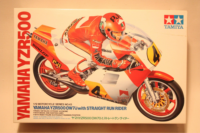 Vintage Tamiya Motorcycle Plastic Model Kit Yamaha