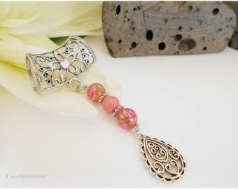 Scarf jewelry, clip scarf, jewelry, jewelry scarf clip pink scarf, tie for arabesque, women scarves for, romantic