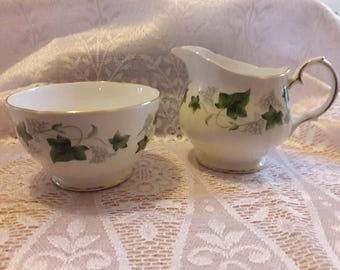 Duchess Ivy Sugar Bowl & Milk Jug