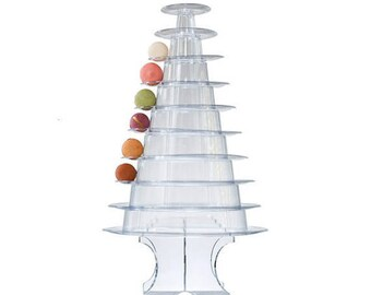Macaron Tower Display Stand for French Macarons - 10 Tiers