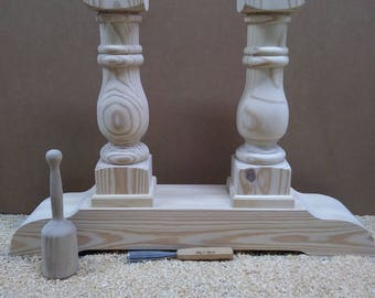 Chunky Balustrade Coffee Table Legs Traditional Style