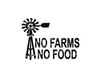 No Farms No Food - Agriculteral Decal - 4H Club - No Farms No Food Decal - Farming Stickers - Support Local Decal