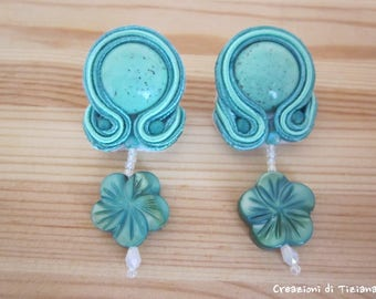 Soutache earrings Mint Green