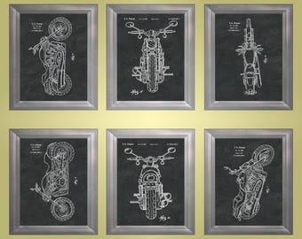 Harley Patent Harley Davidson Poster Motorcycle Mechanic Decor Harley-Davidson Clubhouse Art Man Cave Poster Garage Poster Set of 6 PP 8600