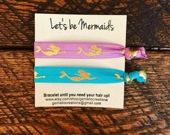Hair Ties, Mermaid, Mermaid Party, Birthday Party, Mermaid Party, Mermaid Party Favors, Mermaid Birthday, Mermaid Hair Ties, Hair Ties