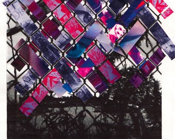 Chainlink Collage Print