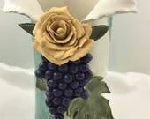 Ceramic Vase, Ceramic Wine Cooler, Hand Built Pottery, Original Art, Housewarming Gift, Wedding Gift, Ceramic Home Decor, Brides Maid Gift