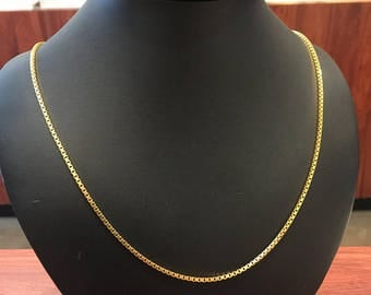 RESERVED. 3rd installment for 18K Yellow Gold Vintage 61cm Box Chain
