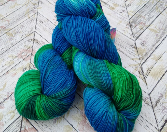 Featured listing image: Squishy Sock Yarn, Hand Dyed Yarn, Merino 8 ply, Nylon SW, 430 yards
