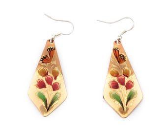 Mexico - Mexican inspired copper earrings