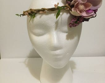 Purple flower crown