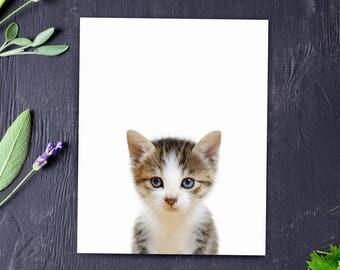 Baby animal prints, Kitten print, PRINTABLE art, Nursery decor, Animal art, Cat print, Nursery wall art, Farm animals, Kids art, Nursery art