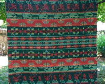 camp blanket/vintage western camp blanket