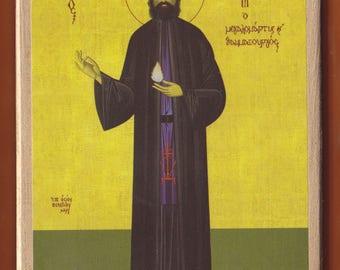 Saint Ephrem. Christian orthodox icon.FREE SHIPPING