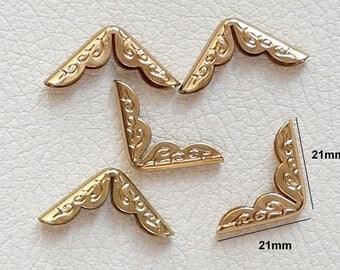 No.20 - Angle corner Protector for book 21x21x3mm color gold