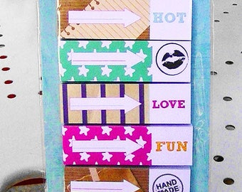 SET OF 250 STICKERS BOOKMARK PAPER DESIGNS VARIES STICKY BOOKMARKS