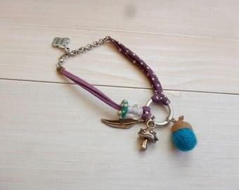 Bracelet fall blue magic mushroom